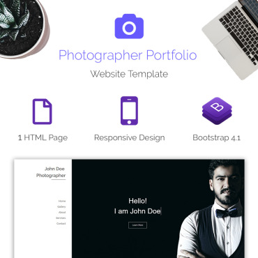 Preview image of Photographer - Portfolio Bootstrap v4.1