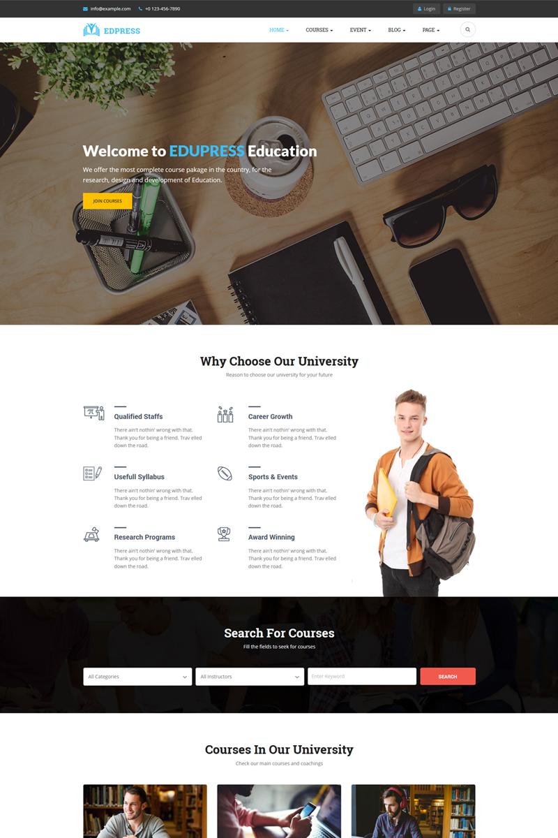 Website Template #70631 Academy Education Elearning Custom