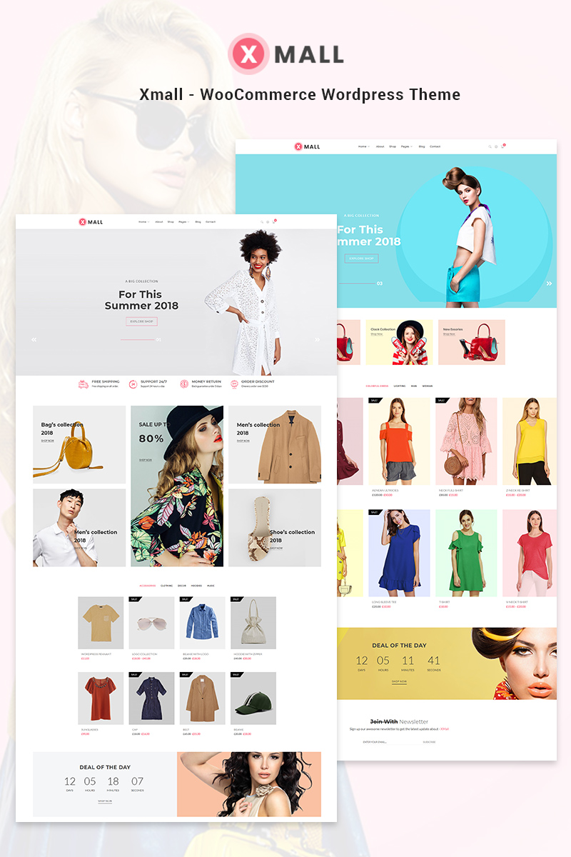 Website Design Template 70632 - fashion clothing accessories store shop shopping business retail style stylish trend blog kingcomposer clean responsive shops modern