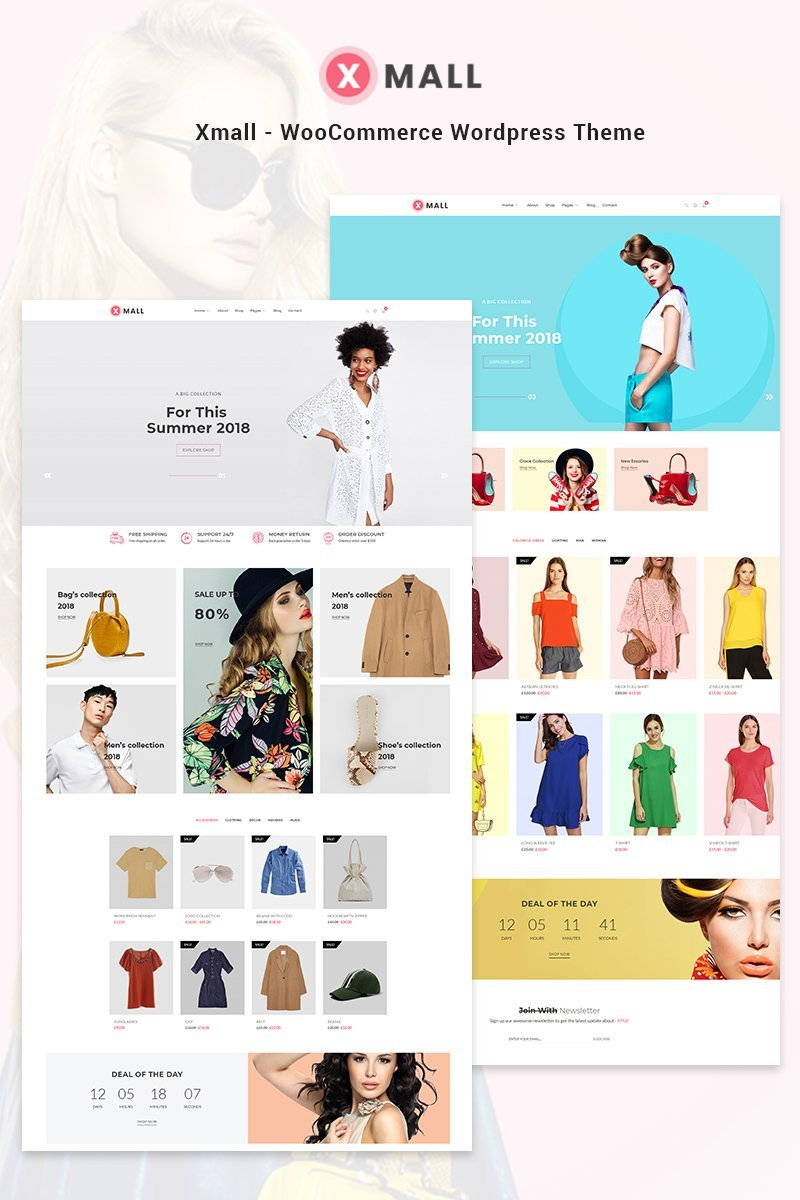 Website Design Template 70632 - ecommerce woocommerce fashion clothing accessories store shop shopping business retail style stylish trend blog kingcomposer clean responsive shops modern