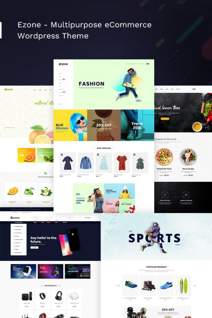 Website Design Template 70633 - clean clothing drink electronics fashion food fruits furniture handicraft modern multipurpose responsive shopify theme sports accessories kids watch
