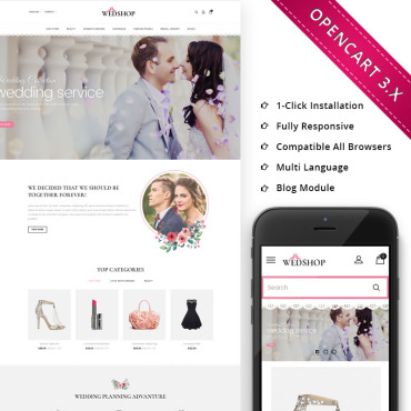 Preview image of Wedshop - Responsive