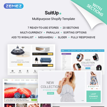 Preview image of SuitUP - Multipurpose Online Store