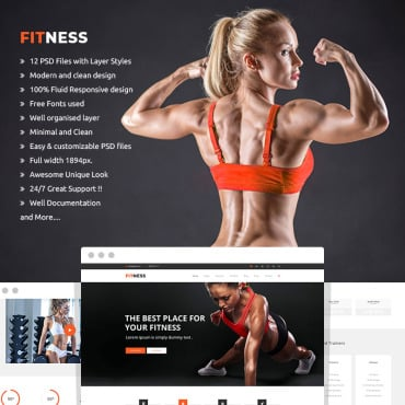 Preview image of Fitness - Sport Blog, Fitness Club, Gym