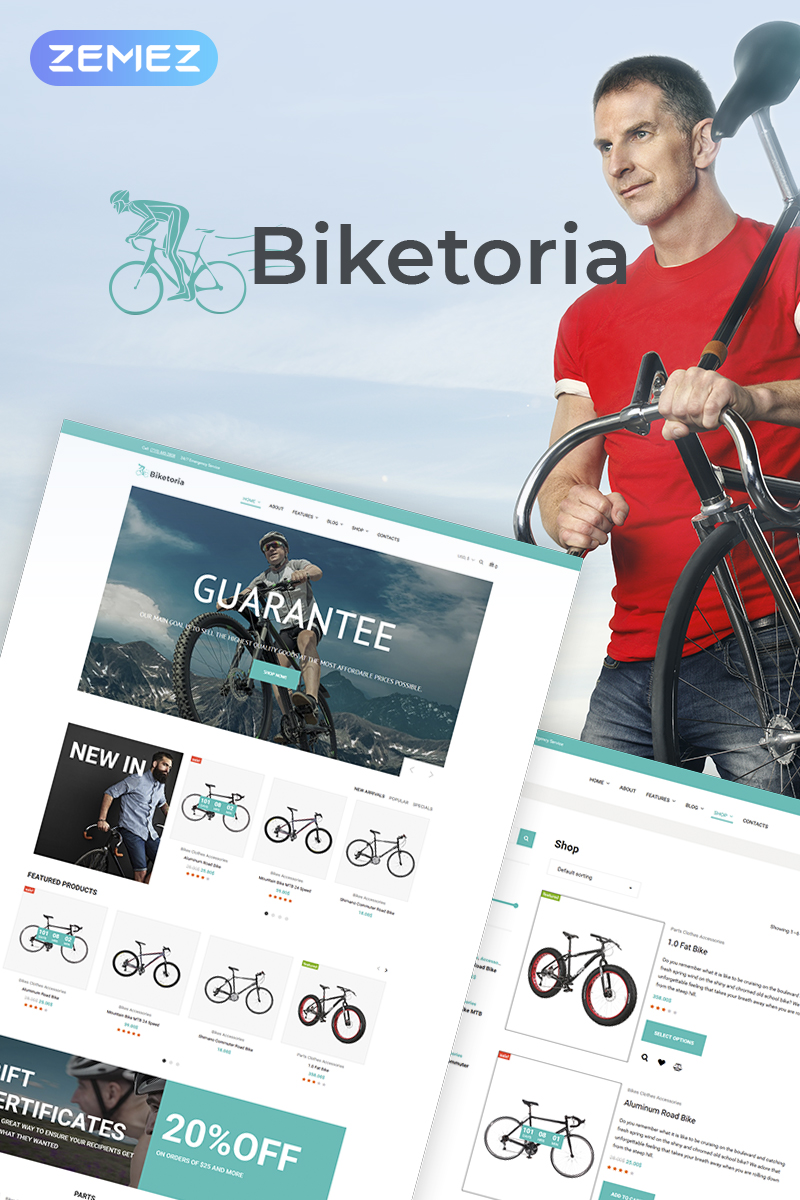 Biketoria- Bike Shop Elementor WooCommerce Theme