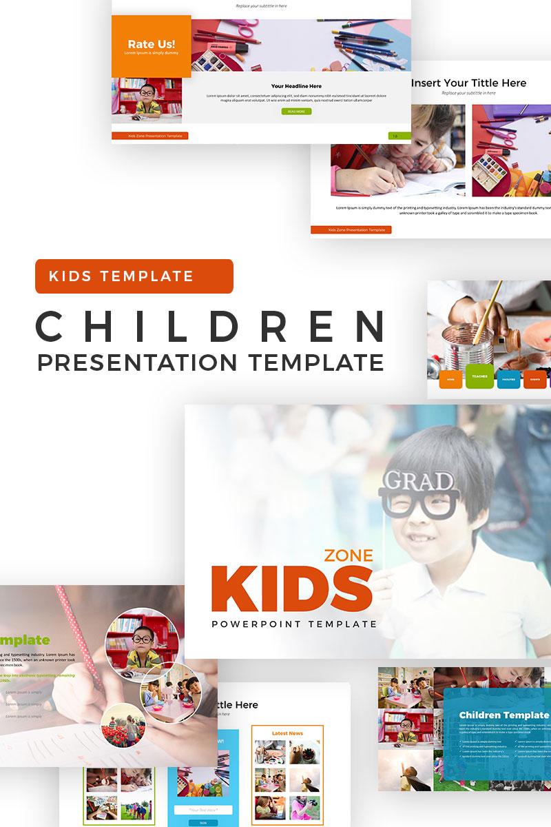 """""""Children"""" PowerPoint Template №70604"""