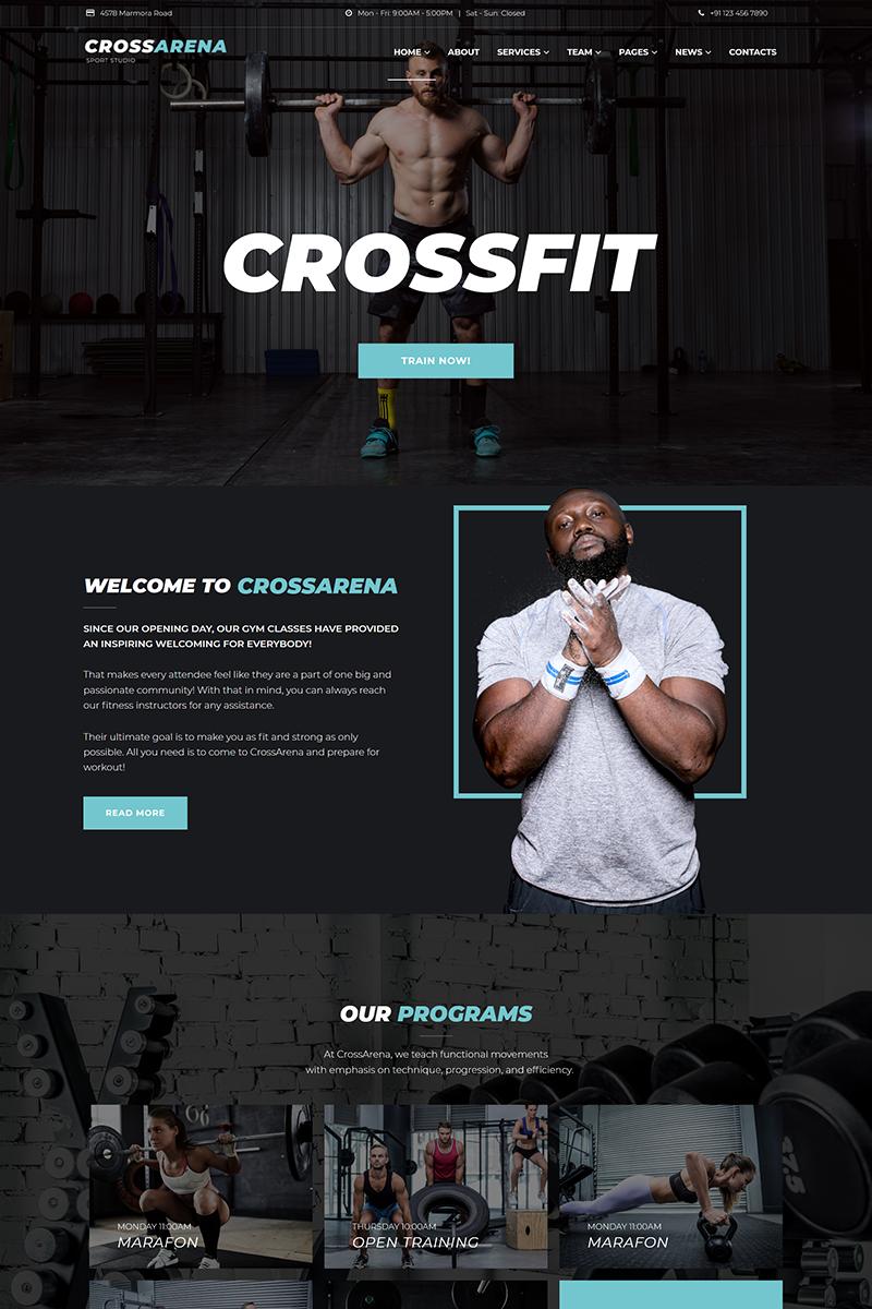 """Cross Arena - Crossfit Studio Elementor"" - адаптивний WordPress шаблон №70645"