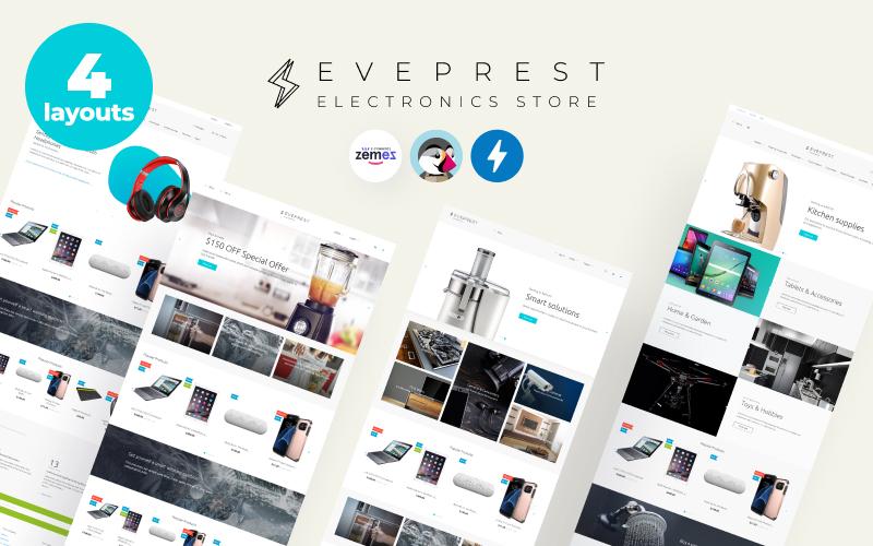 """Eveprest Electronics 1.7 - Electronics Store"" 响应式PrestaShop模板 #70643"