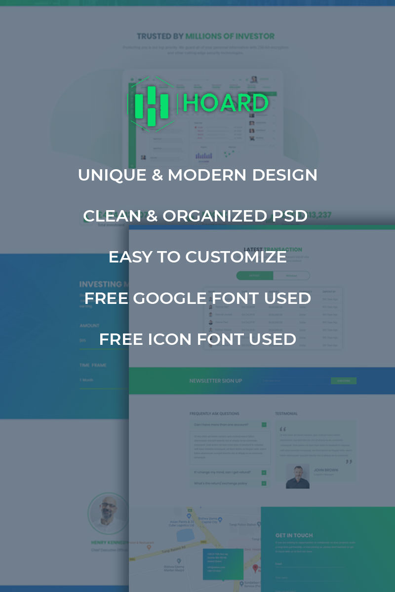 Hoard - Investment Website PSD Template