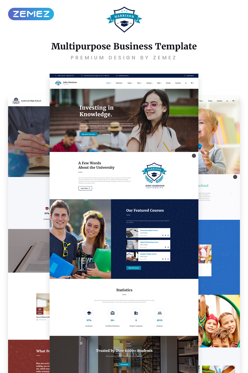 John Harrison - Elegant Education Multipage HTML Website Template