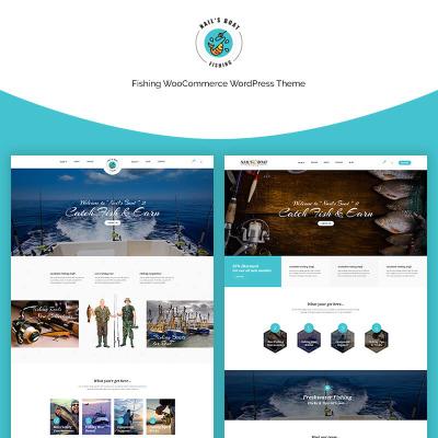 Thème WooCommerce adaptatif  pour sites de poissons