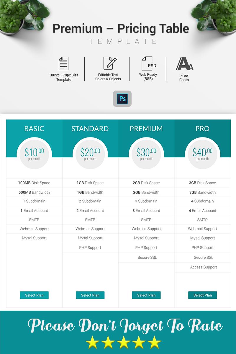 Prémium Domain - Pricing Table Infographic Elements 70612 - képernyőkép