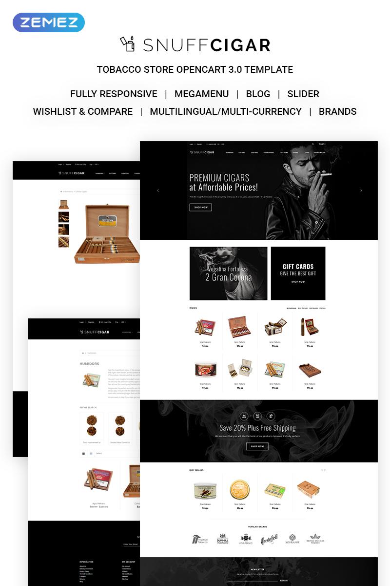 Responsivt SnuffCigar - Elegant Cigar Online Shop OpenCart-mall #70687