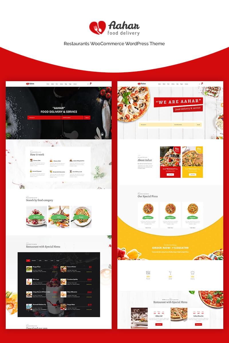 Responsywny motyw WooCommerce Aahar - Restaurants #70661