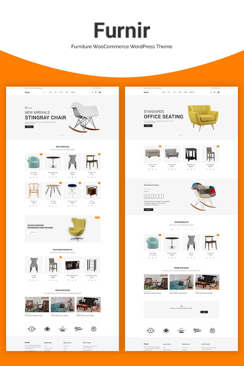 Responsywny motyw WooCommerce Furnir - Furniture #70669 - zrzut ekranu