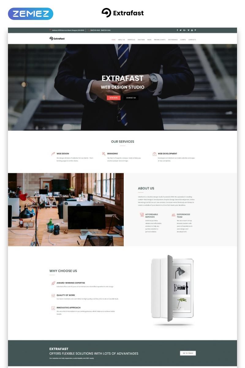 Responsywny szablon Landing Page ExtraFast - Web Design Studio HTML5 #70657