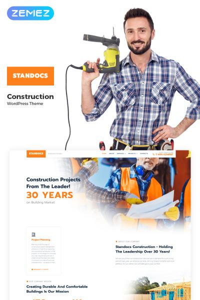 Responsive Tema De WordPress #70630 para Sitio de  para Sitio de Empresas de construcción
