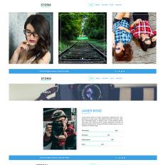 Photo Gallery PSD Templates | TemplateMonster