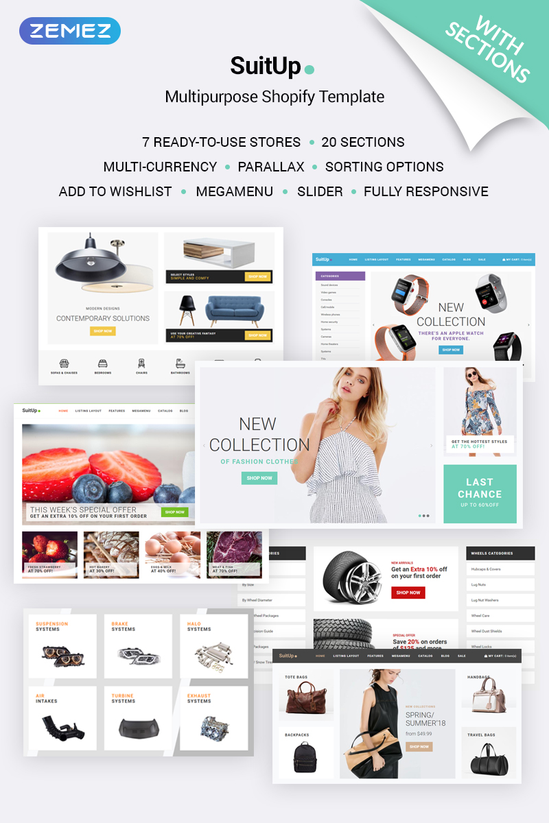 SuitUP - Multipurpose Online Store Shopify Theme - screenshot