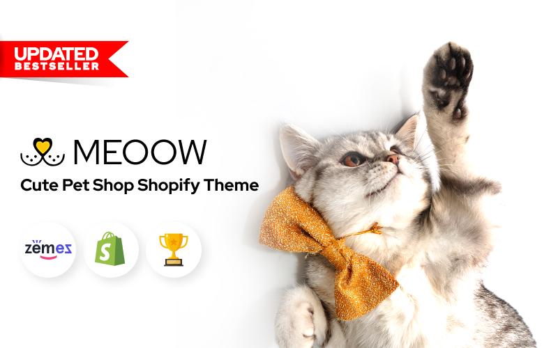 "Tema Shopify Responsive #70611 ""Meoow - Cute Pet Shop"""