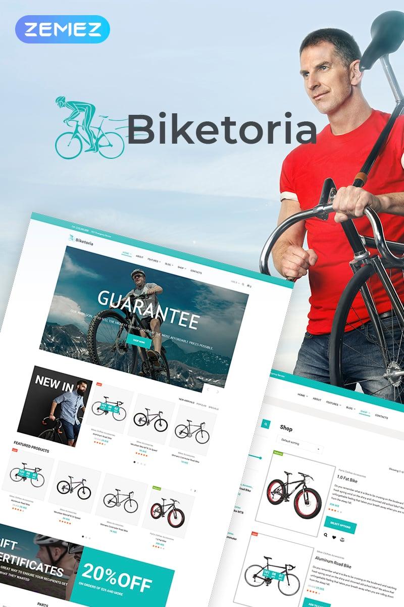 """Tema WooCommerce Responsive #70647 """"Biketoria- Bike Shop Elementor"""""""