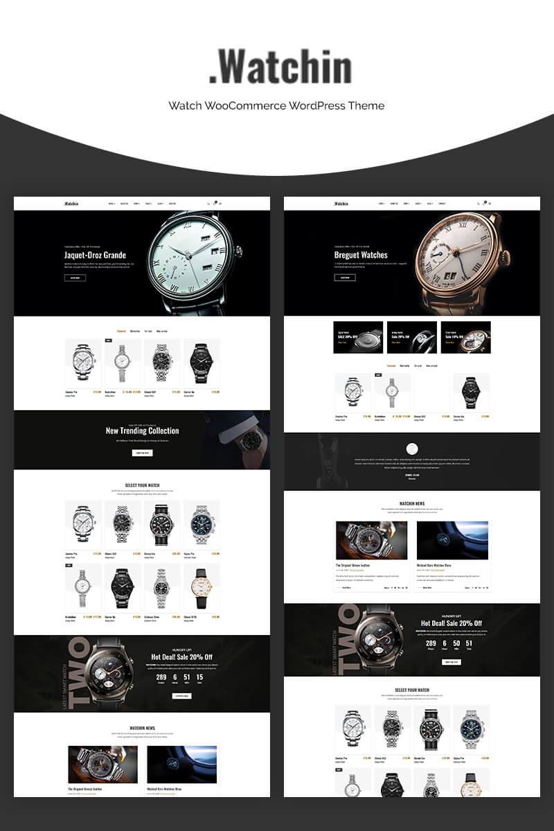 "Tema WooCommerce ""Watchin - Watch"" #70665"