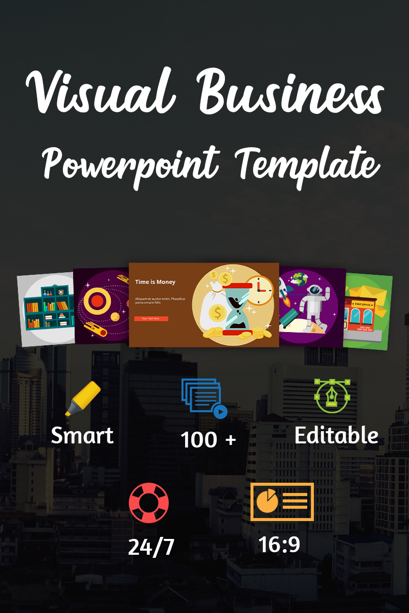 """Visual Business-"" PowerPoint 模板 #70602"