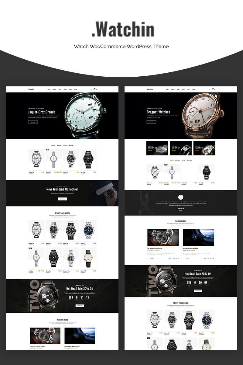 Watchin - Watch WooCommerce Theme
