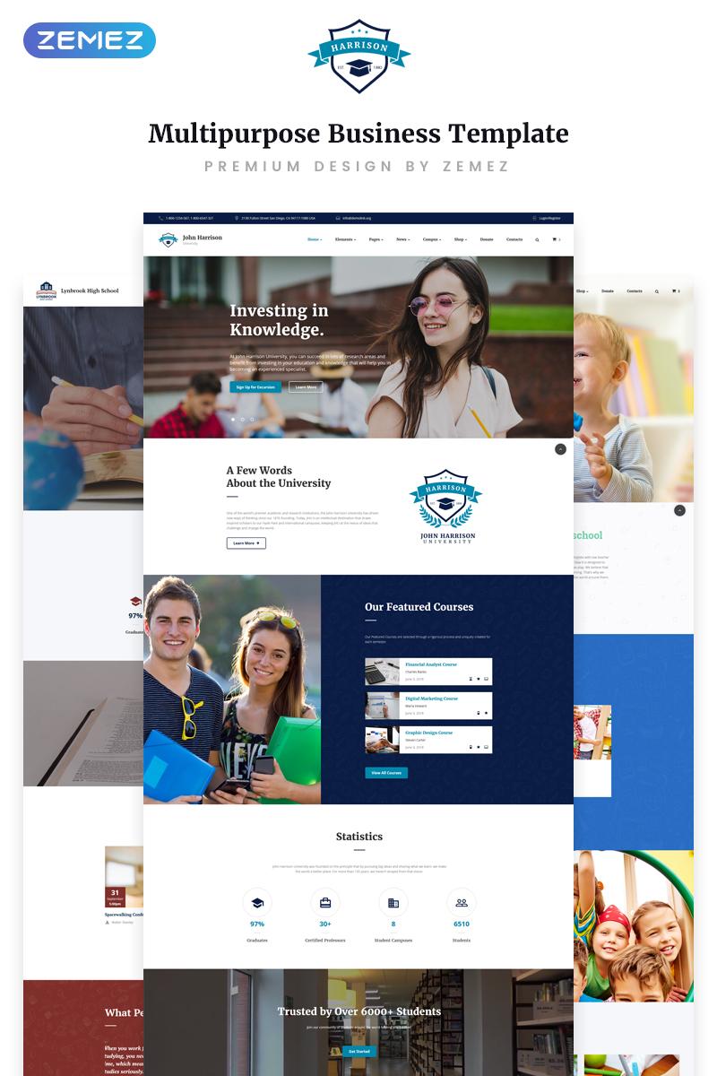 """Website Vorlage namens """"John Harrison - Elegant Education Multipage HTML"""" #70659"""