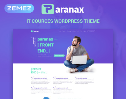 Paranax - IT Courses Elementor WordPress Theme