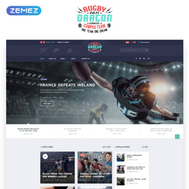 Preview image of Reebok - Rugby Multipage HTML5