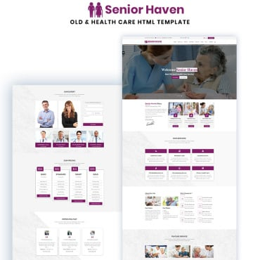 Preview image of Senior Haven Old & Health Care HTML