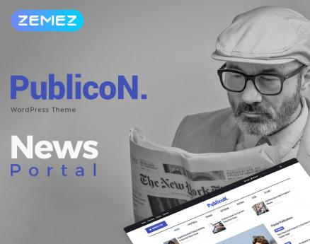 Publicon - News Portal Elementor WordPress Theme