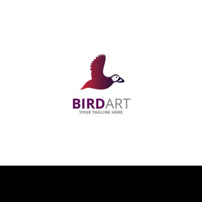 Bird Art Design Logo Template #70765