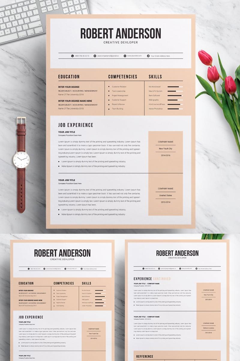 Designer  Developer Modern Resume Template