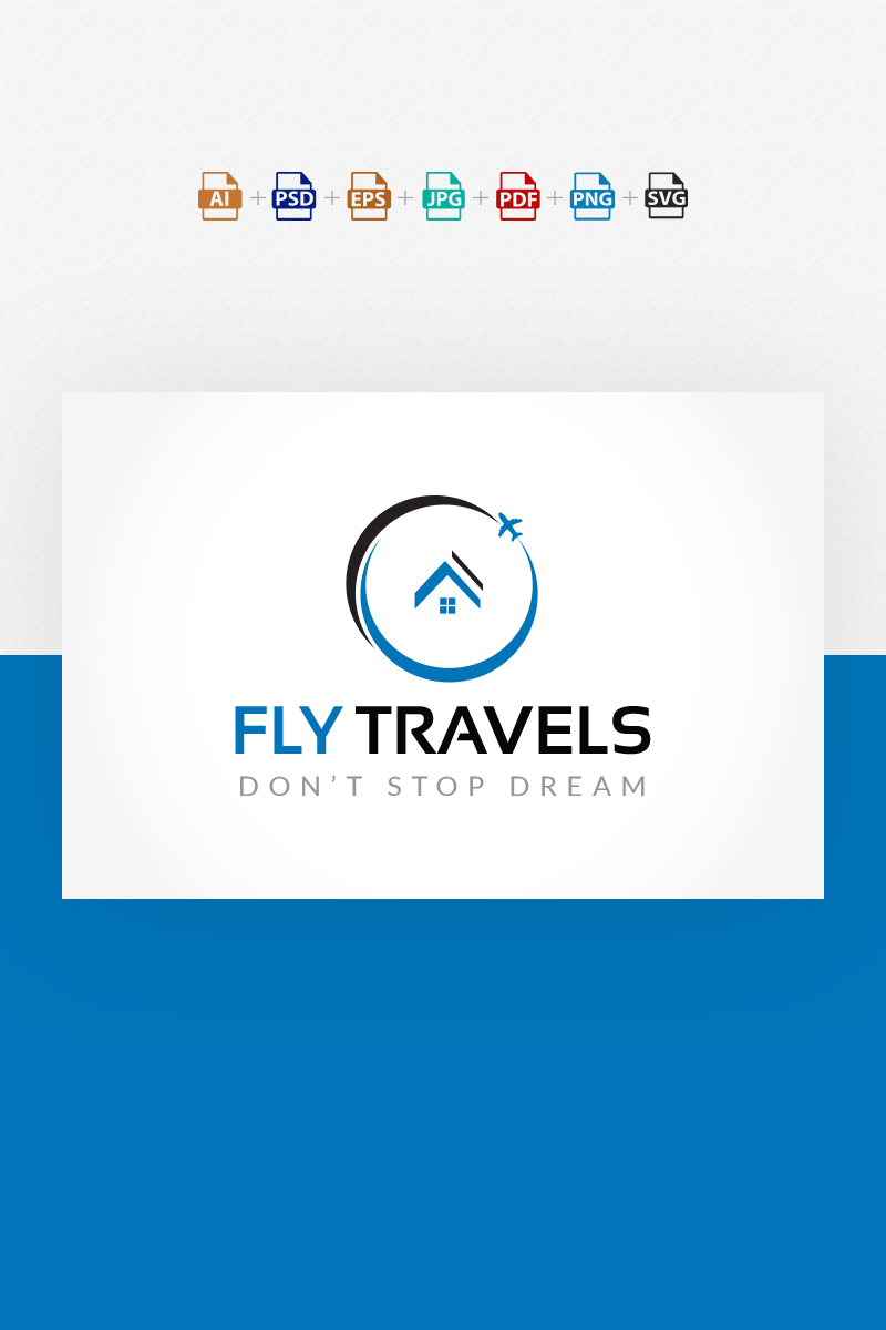 Fly Travels Logo Template