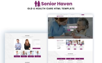 Senior Haven Old & Health Care HTML Landing Page Template