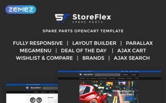 StoreFlex - Fancy Car Parts Online Shop OpenCart Template