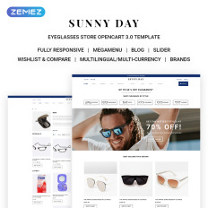 eye glasses opencart templates