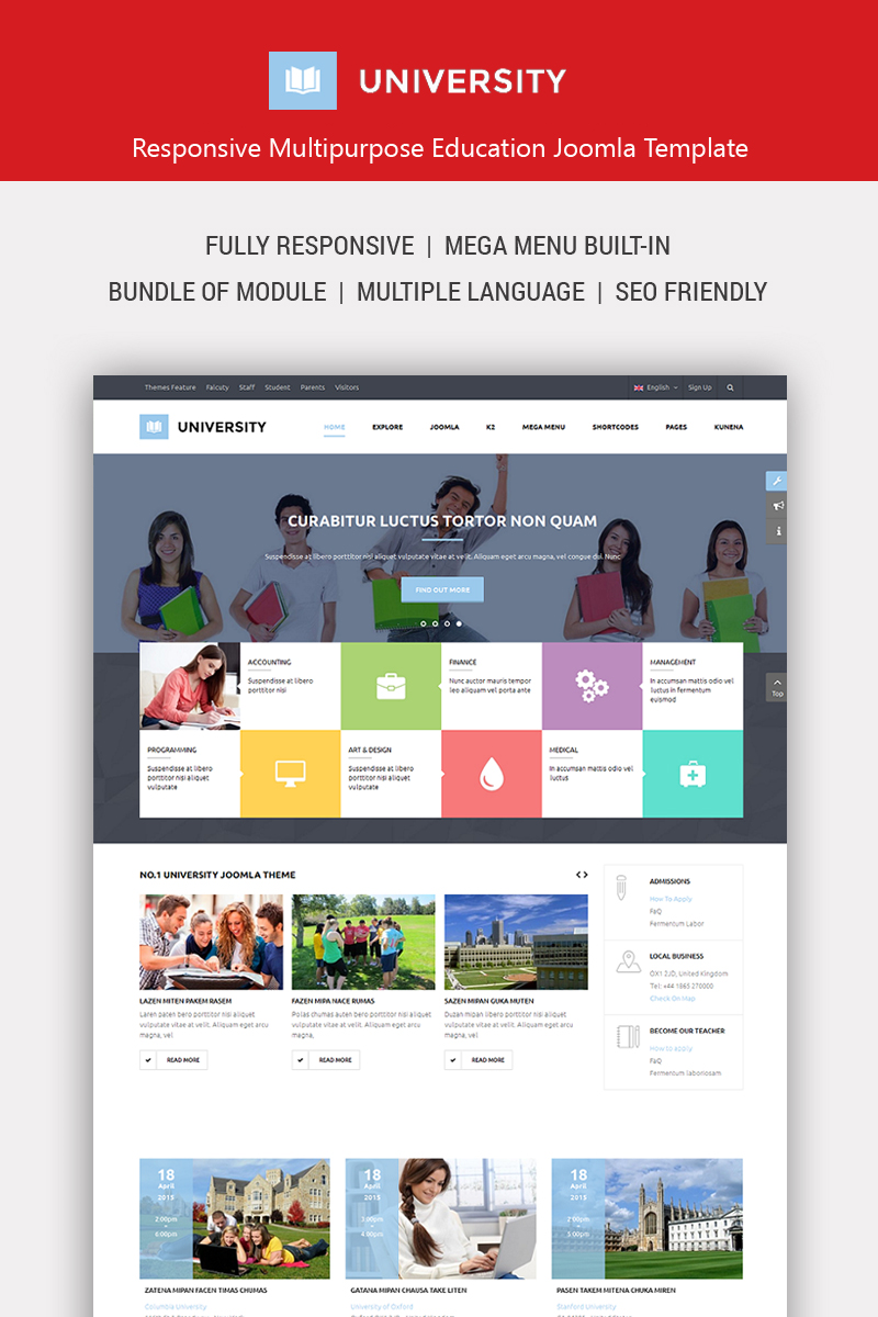 University II - Education Responsive Joomla Template
