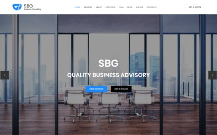 SBG - Business Consulting HTML Landing Page Template