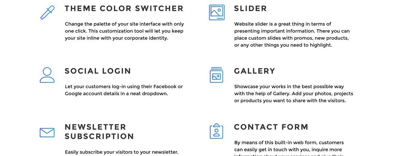Website Design Template 70802 - gallery blog post project service multipurpose responsive visual seo html