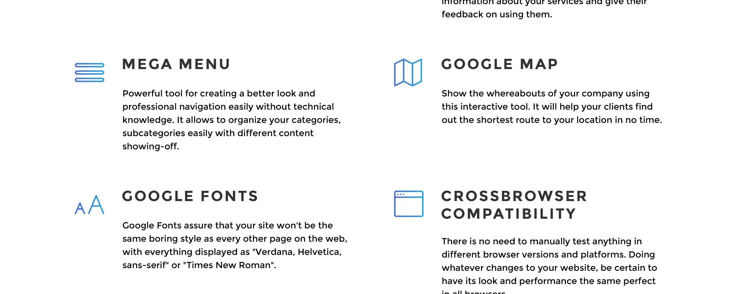 Website Design Template 70802 - multipurpose responsive visual seo html