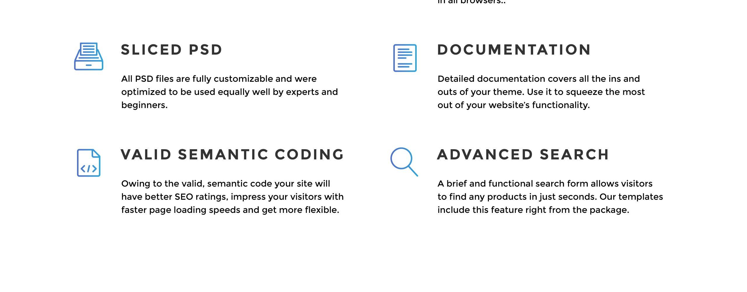 Website Design Template 70802 - blog post project service multipurpose responsive visual seo html