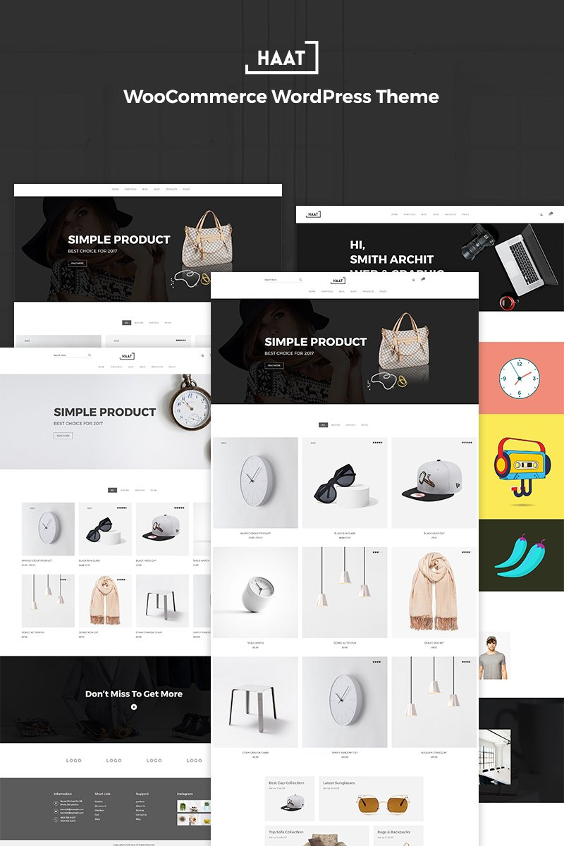 Website Design Template 70817 - fashion furniture modern multipurpose parallax product shop shopkeeper shopping store woocommerce watch bag electronics digital elegant
