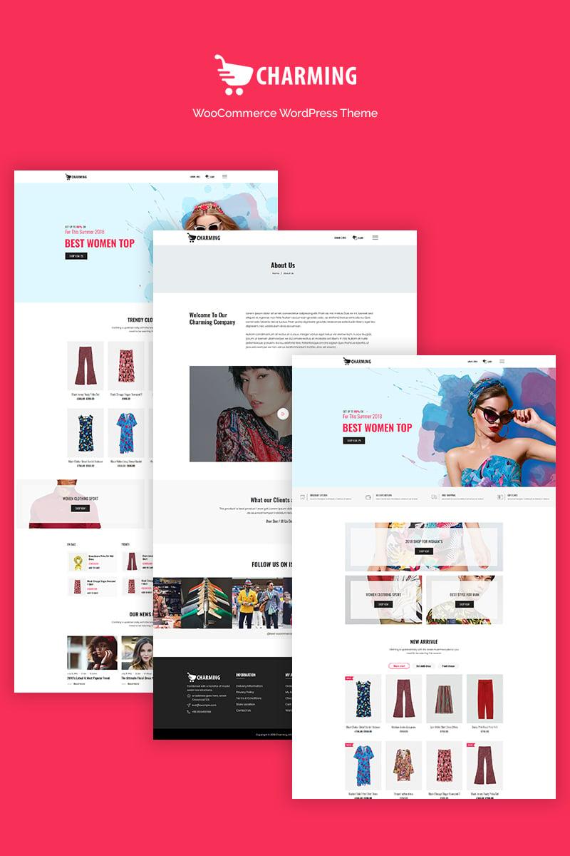 Website Design Template 70844 - clean morden responsive shop blog woocommerce onlinestore clothing footwear shirt tshirt portfolio wordpress shopping market business theme