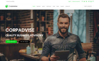 CorpAdvice - Fresh Business Consultancy Agency Landing Page Template