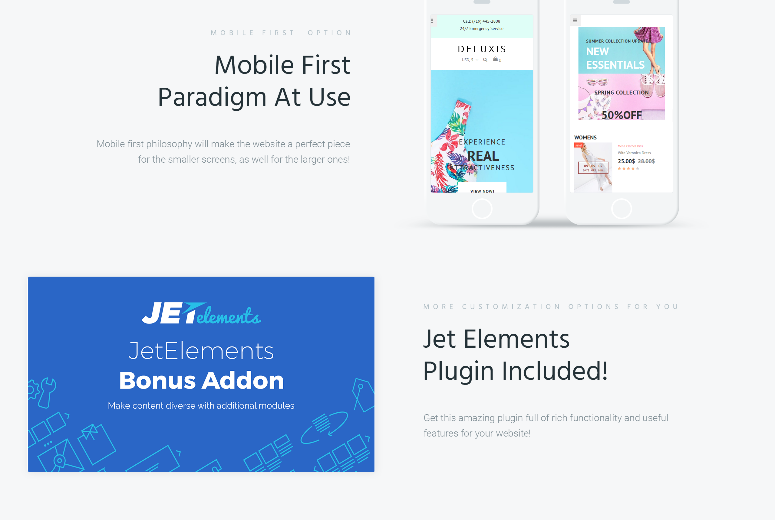 Website Design Template 70855 - promotion responsive testimonials creative design