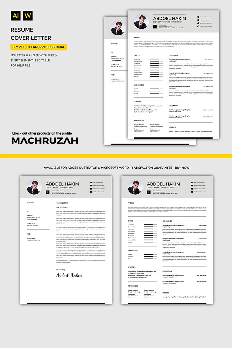 Abdoel - Cover Letter / Resume Template