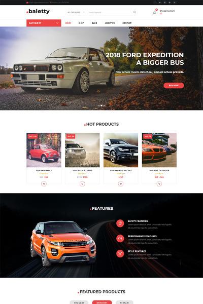 Адаптивный WooCommerce шаблон №70835 на тему автомобиль #70835